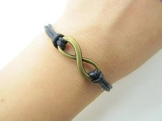 Black Rope Steampunk Bracelet Antique Bronze karma by sevenvsxiao, $2.59