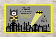 MiNION Batman Invitation Birthday PartyDigital by TinyLittlePrints