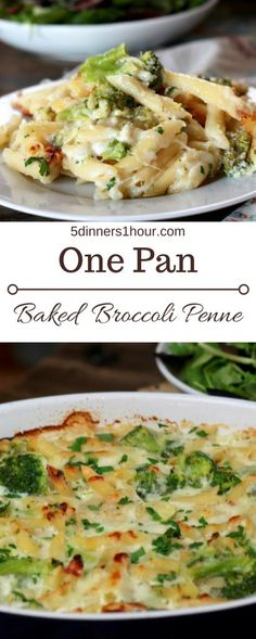 Baked broccoli penne is a fast dinner for nights when you want to skip the meat and still get all the comfort. pasta bake Baked Broccoli Penne - 5 Dinners In 1 Hour Baked Recipes Vegetarian, Vegetarian Comfort Food, Vegetarian Dinners, Broccoli Recipes, Baked Pasta Recipes Vegetarian, Vegetarian Chicken, Veggie Meat Recipes, Comfort Foods, Vegetarian Sauces