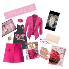 """""""for own inspiration"""" by anastaslepchenko ❤ liked on Polyvore featuring IWearPinkFor"""