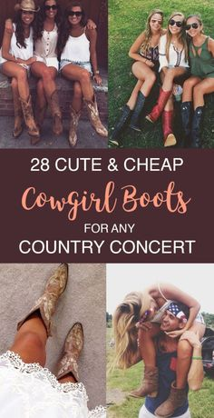 28 Cute And Cheap Cowgirl Boots For Your Next Country Concert - Society19
