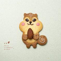 Squirrel cookie(plane cookie x hazelnut cookie x almond)