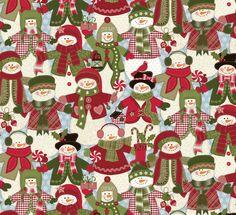 Happy Christmas fabric for Northcott