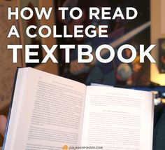 Textbook reading can be tricky. Check out these tips to make sure your library time is productive!