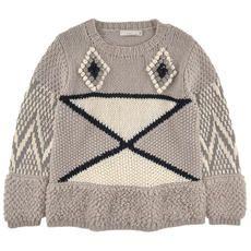 Stella McCartney Kids - Loose stitch wool blend knit sweater - Grey