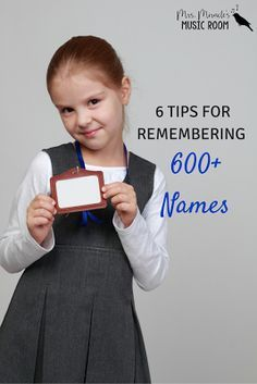 6 tips for remembering 600+ Names: Great tips for any specialist! Includes name games, activities, and more!