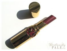 Yves Saint Laurent Rouge Volupte Perle in 109 Brazen Plum ~ Swatches, Photos, Review |Perilously Pale