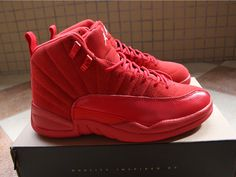 new product 535a8 890a0 Air Jordan 12 Red Suede Women Basketball Shoes,Price  48