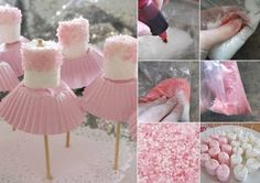 Ballerina Marshmallows Perfect for Parties Video Tutorial