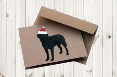 Dog Breed Holiday Card dog holiday card by BullyDogDesigns on Etsy