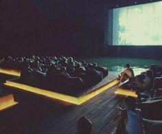 Drijvende cinema- Thailand
