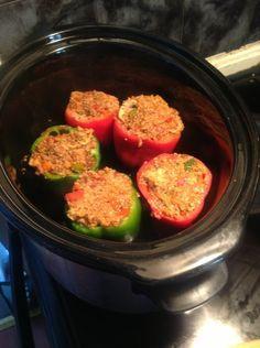 Quinoa stuffed Peppers, crockpot