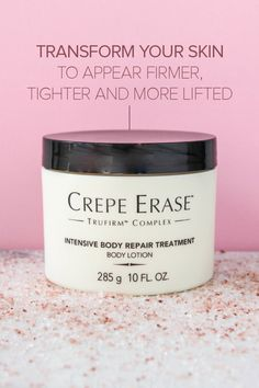 Don't hide your body...Crepe Erase® helps smooth away the signs of aging & repairs the look of loose, crepey skin on your neck, chest, arms and legs.