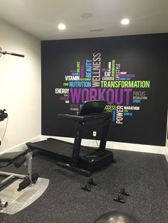 home gym design & home gym . home gym ideas . home gym ideas small . home gym decor . home gym design . home gym ideas garage . home gym garage . home gym ideas basement Home Gym Garage, Home Gym Basement, Gym Room At Home, Workout Room Home, Workout Rooms, Basement Workout Room, Workout Room Decor, Gym Workouts, At Home Workouts