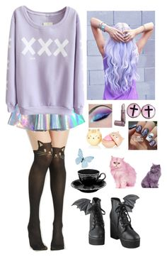 """""""Pastel Goth #31"""" by godfidence ❤ liked on Polyvore featuring Iron Fist"""