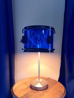 Repurposed drum table lamp~ a great gift for a drummer!