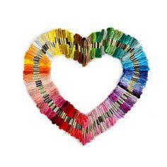 50 piecse  threads !!! Wholesale  50 random color  pieces  DMC   threads  / Similar DMC Thread Floss Skein Cross Stitch Thread