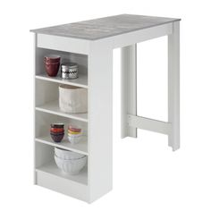 Small Kitchen Tables, Small Dining, Kitchen Ideas, Bar Armoire, Bathroom Feature Wall, Style Salon, Table Haute, Chaise Bar, Bathroom Medicine Cabinet