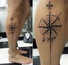 Tatuagem estrela de sete pontas