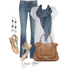 """""""Fave Jeans and a Tee"""" by orysa on Polyvore"""