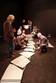 Für das erste multisense® Forum am 15. September 2010 in Essen inszenierte Ueberholz in der Zeche Zollverein die fünf Cafés der Sinne. Hier das Hörcafé. #Sound #Multisensorik #multisense