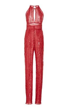 Embsllished Jumpsuit by Naeem Khan Resort 2019 Red Fashion, Fashion Outfits, Womens Fashion, Trendy Outfits, Cute Outfits, Embellished Jumpsuit, Naeem Khan, Fashion Photography Inspiration, Red Jumpsuit