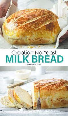 Yeast Free Breads, No Yeast Bread, Yeast Bread Recipes, Quick Bread Recipes, Easy Bread, Banana Bread Recipes, Bread Baking, Baking Recipes, Gluten Free Bread Recipe No Yeast