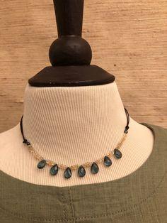 Leather Cord, Brown Leather, Cowboy Pictures, London Blue, Quartz Necklace, Blue Opal, Etsy Shop, Gemstones, Beads