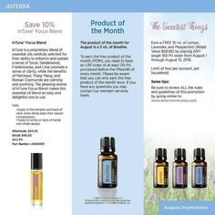 #oils4health Such great deals from @doterra this month. Order on our site: http://ift.tt/1DTqvrw or message me for details. Sure love getting free oils!  Announcing our promotions for the month of August!  Intune Focus Blend: 10% off 5ml Breathe Respiratory Blend: Product of the Month The Sweetest Things Promotion: Place any single 160PV order from now through August 31st 2016 and receive FREE 15mls Lemon Lavender and Peppermint.  For more details please see our promotions page here…