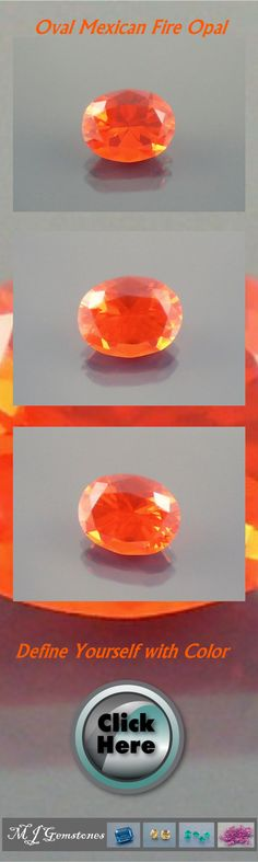 Fire Opal: 1.77ct Red Orange Oval Shape Gemstone  Weight: 1.77ct Shape: Oval Color: Red-Orange (RO/OR) Tone: Medium (5) Saturation: Strong (5) Clarity: Eye-Clean Measurement: 9.85x7.74x5.71mm Proportions: Very Good Finish: Very Good Cut: Very Good Treatment: None Stock# O48