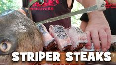 Striper Fish Steaks recipe