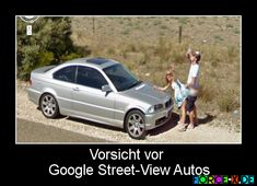 Vorsicht vor Google Street-View Autos