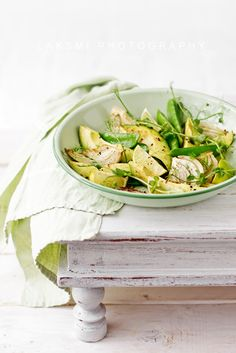 roasted fennel, avocado, peapods & sprouts salad