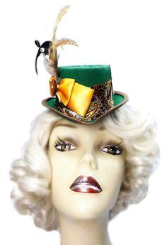 Mad Hatter Fascinator Top Hat Alice In Wonderland Mini Victorian Steampunk Mad Tea Party
