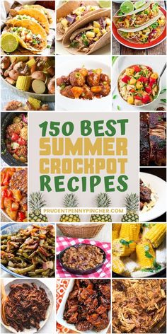Make summer dinners a breeze with these easy summer crockpot recipes. From BBQ pulled pork to healthy pineapple chicken there are plenty of summer crockpot meals to choose from. There are slow cooker recipes for main dishes sides desserts and much more. Healthy Crockpot Recipes, Slow Cooker Recipes, Gourmet Recipes, Dinner Recipes, Cooking Recipes, Crockpot Meals, Vegan Recipes, Cheap Recipes, Dinner Ideas