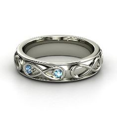 Infinite Love Ring, Sterling Silver Ring with Blue Topaz from Gemvara