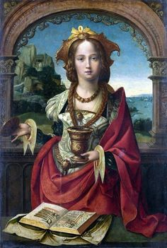 The Magdalen (c. 1530). Attr. to The Master of the Legend of the Magdalen (German, active from about 1483 to around 1527). National Gallery, London.  It is probably idealized, but I think it is painted to be an example of a bodice that does not confine the breast, like the Princess Dorothea's existing garment.