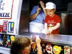 Five-year-old Robin, who had #cancer, wished to be the boss of the ice cream man.
