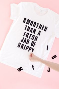 DIY Graphic Tees using iron-on letters