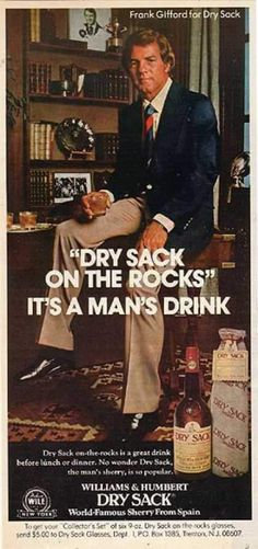 Frank Gifford Dry Sack vintage advertisement