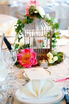 Fleur du Jour - birdcage centerpiece