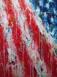 Kari Kants American flag Shes at Goldman Sachs by day abstract