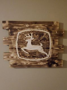 John Deere wall art Rustic wall art Wood by beeliciouscreations