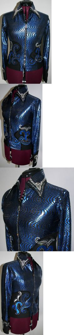 Western Show Shirts 183370: Wannagoslow Showmanship Horsemanship, Pleasure, Rail, Horse Show Trail Swarovski -> BUY IT NOW ONLY: $1250 on eBay!