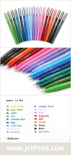 The Le Pen is acid-free, non-toxic, smudge-proof on most papers and available in 18 fun colors. The pen is great for… To Do Planner, Happy Planner, Jet Pens, Little Bit, School Supplies, Art Supplies, Office Supplies, Marker Pen, My Journal