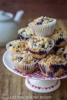 Olive Oil & Greek Yogurt Blueberry Muffin Recipe