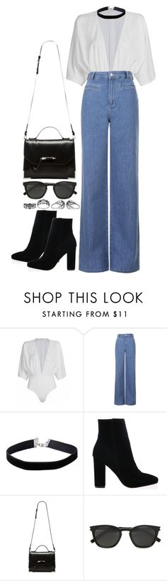 """Untitled #660"" by weyheytati ❤ liked on Polyvore featuring Topshop, Miss Selfridge, Mackage, Yves Saint Laurent and Harley-Davidson"
