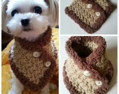 Crocheted Small Dog Neck warmer, dog neck warmer, small dog Scarf, Puppy scarf fits most S or M dogs - Hunde Chat Crochet, Crochet Amigurumi, Small Dog Breeds, Small Dogs, Small Breed, Basenji Puppy, Rottweiler Puppies, Yorkie Clothes, Pet Sweaters