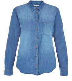 Blue Single Pocket Denim Shirt