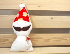 Merry Merry Santa Clause Toy PLUSH by tinytweets on Etsy, $21.00